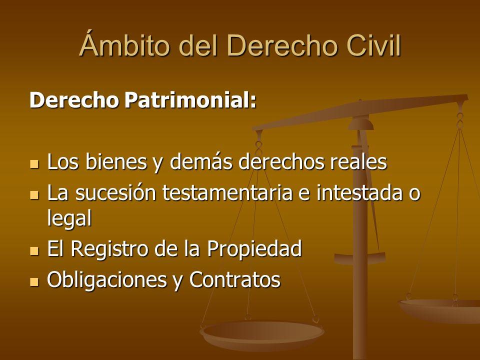 Ámbito del Derecho Civil