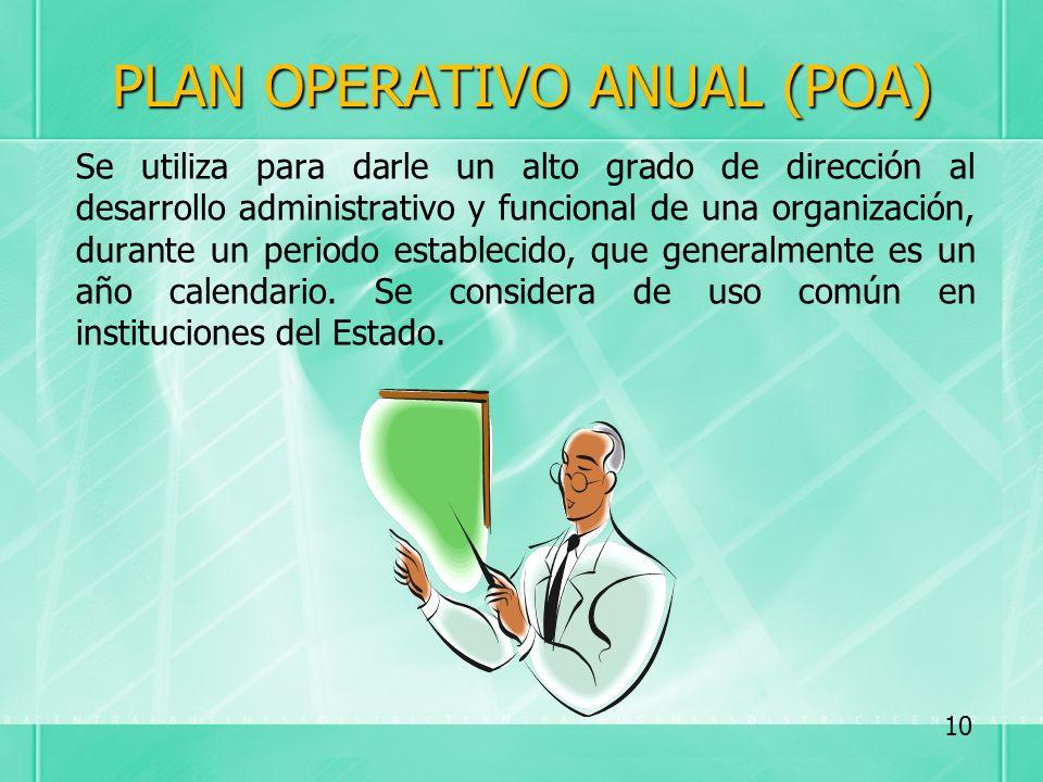 PLAN OPERATIVO ANUAL (POA)