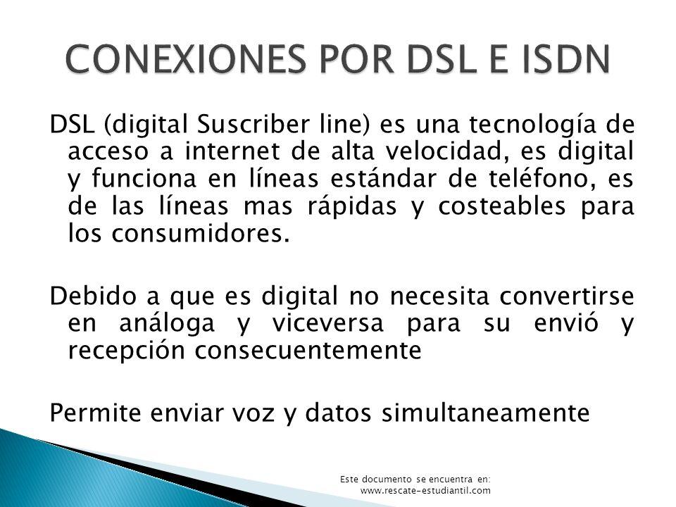 CONEXIONES POR DSL E ISDN