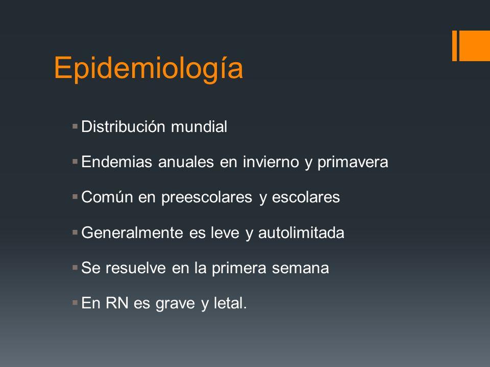 Epidemiología Distribución mundial