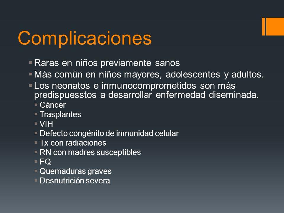 Complicaciones Raras en niños previamente sanos