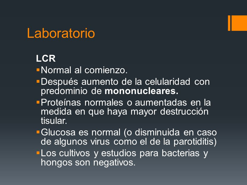Laboratorio LCR Normal al comienzo.