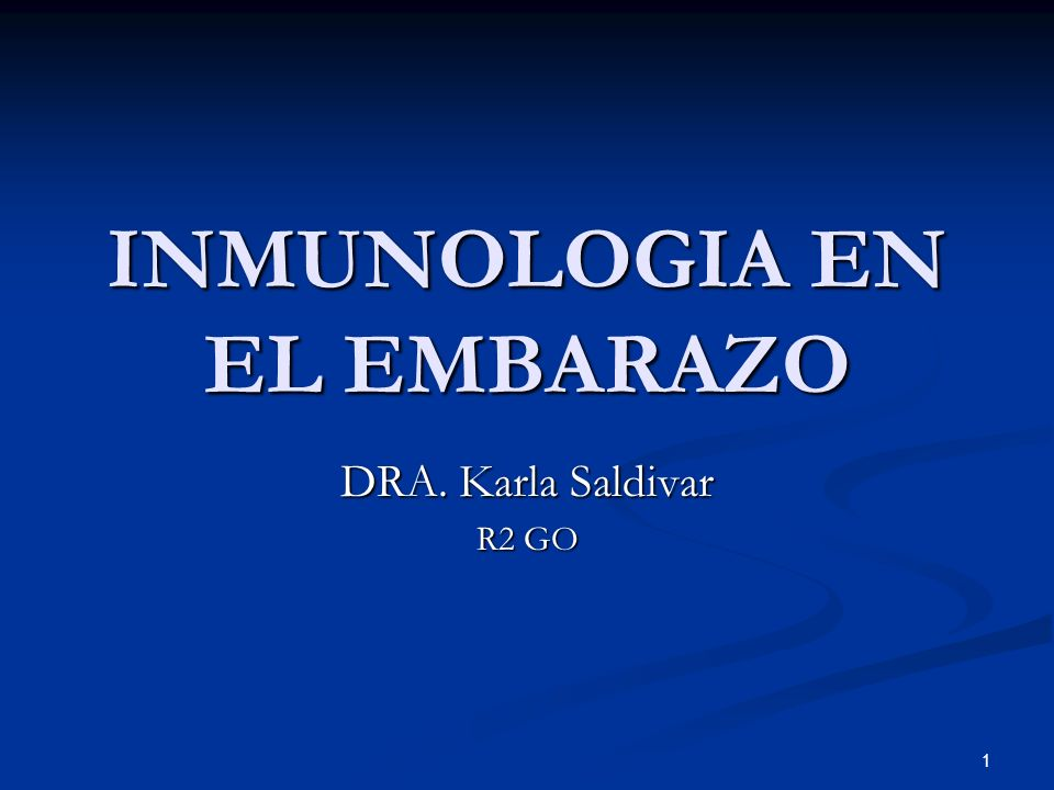 INMUNOLOGIA EN EL EMBARAZO