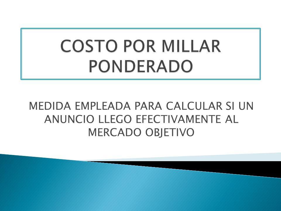 COSTO POR MILLAR PONDERADO