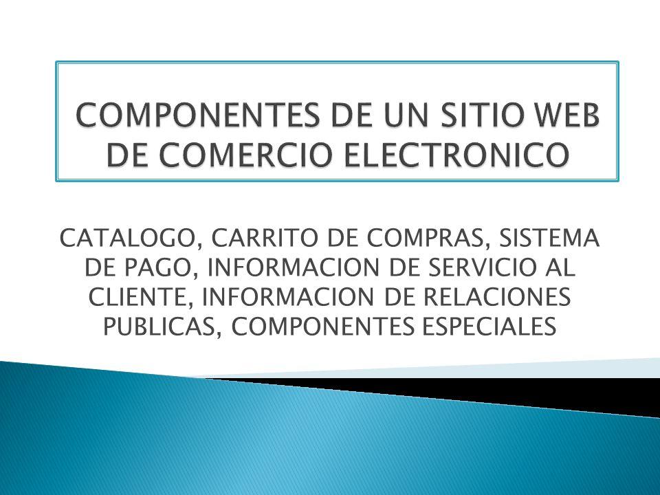 COMPONENTES DE UN SITIO WEB DE COMERCIO ELECTRONICO