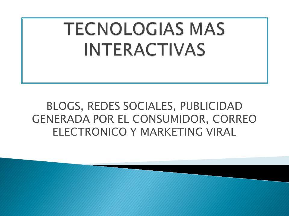 TECNOLOGIAS MAS INTERACTIVAS