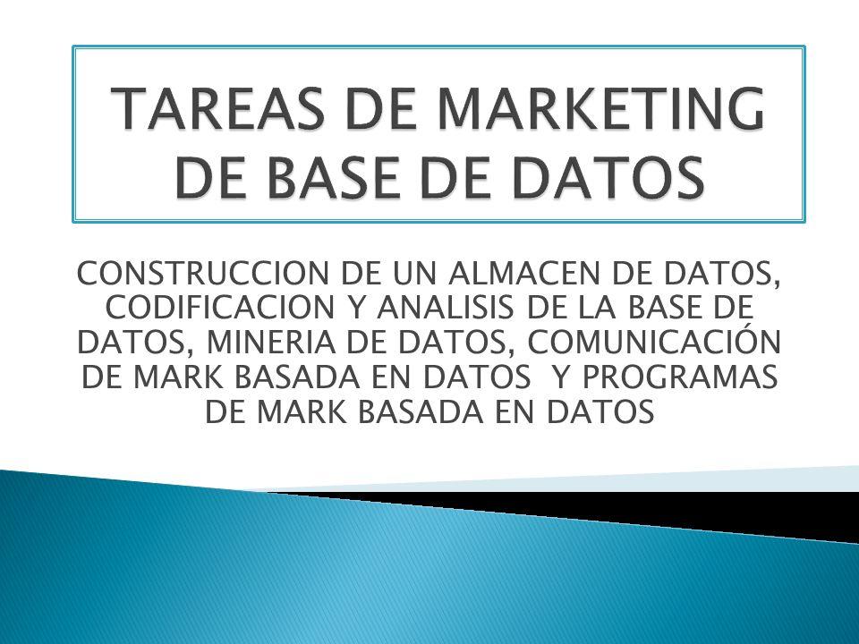TAREAS DE MARKETING DE BASE DE DATOS