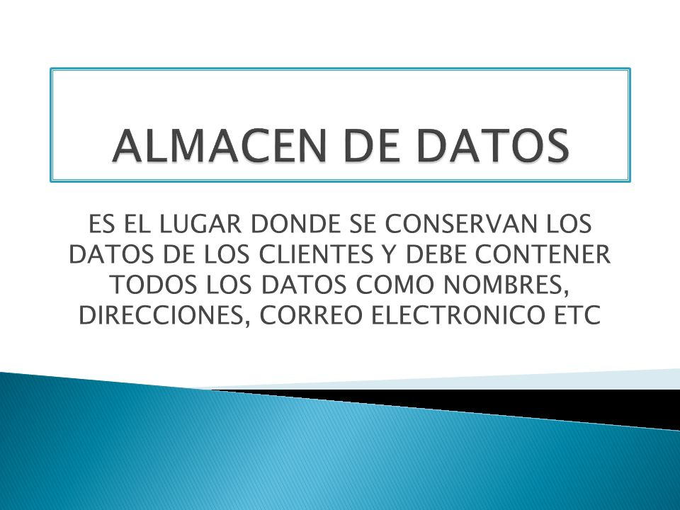 ALMACEN DE DATOS
