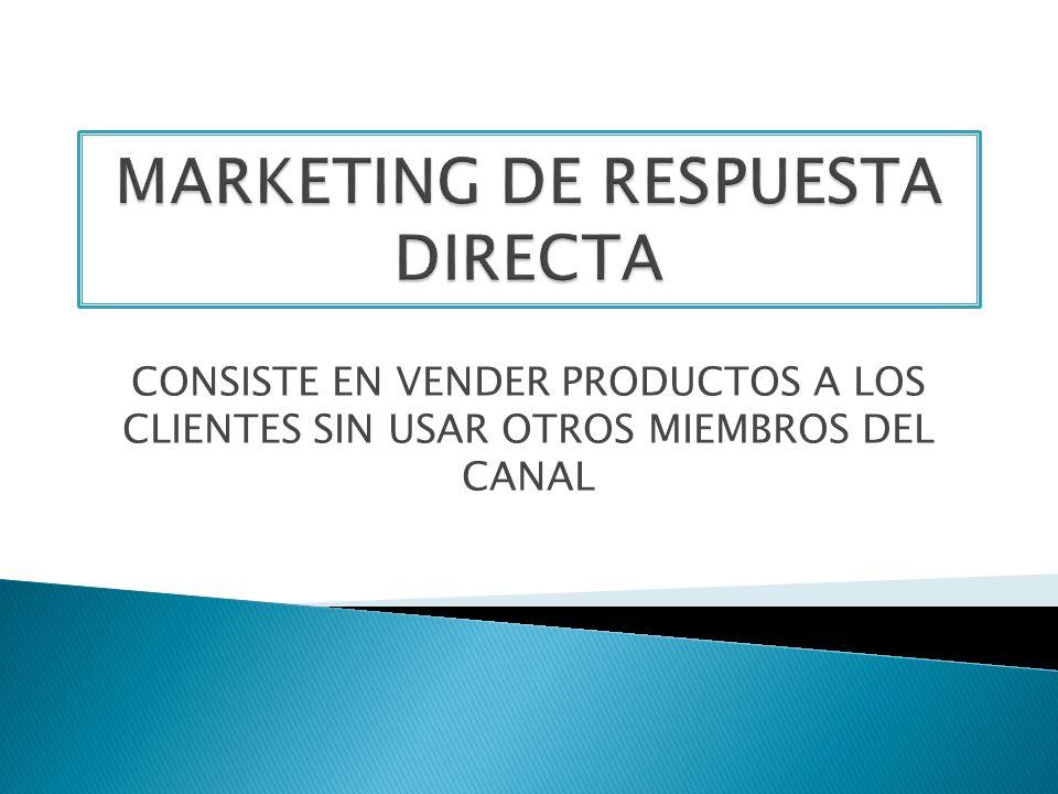 MARKETING DE RESPUESTA DIRECTA