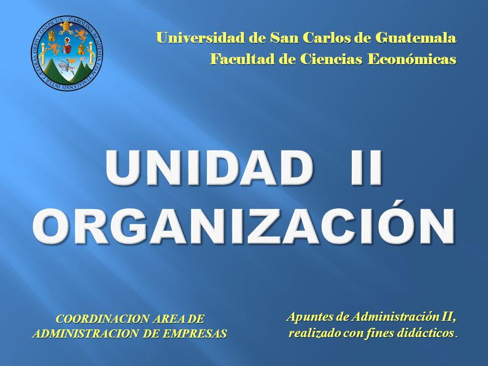 UNIDAD II ORGANIZACIÓN