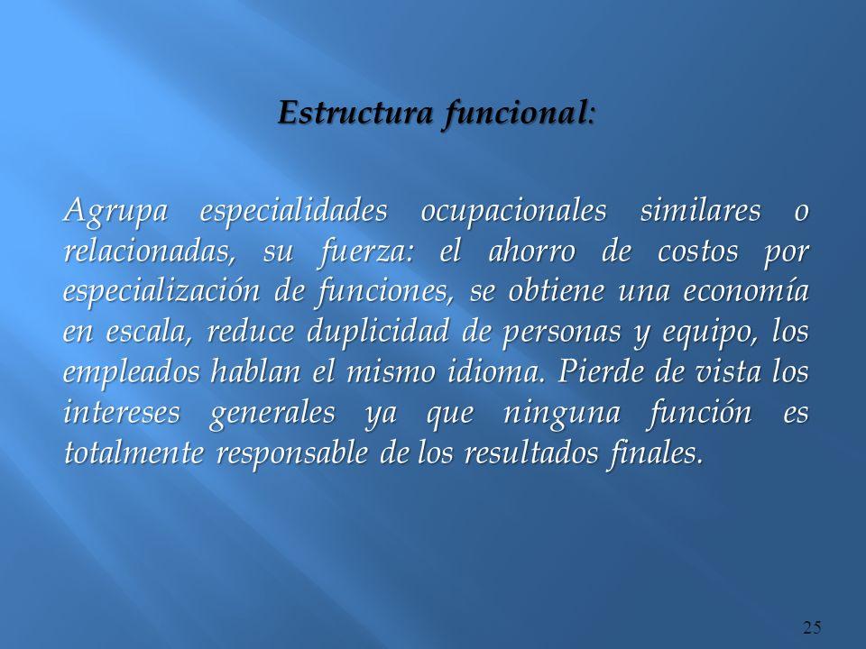 Estructura funcional: