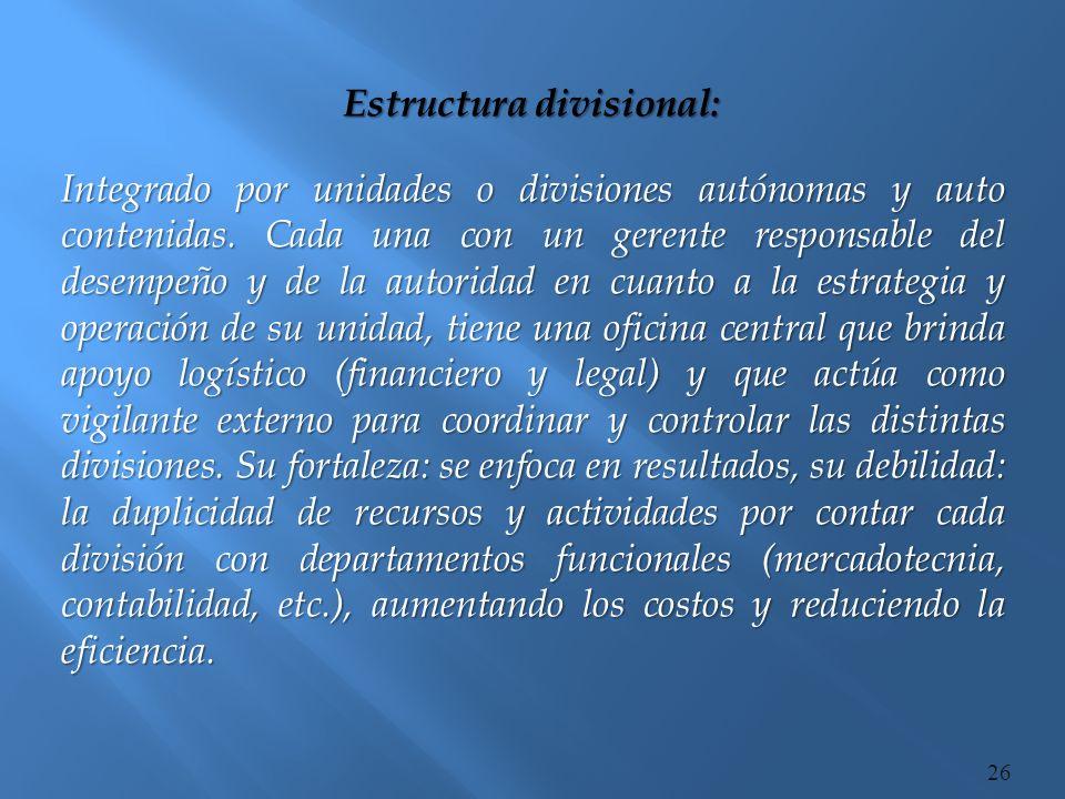Estructura divisional: