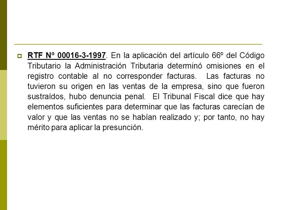 RTF Nº 00016-3-1997.