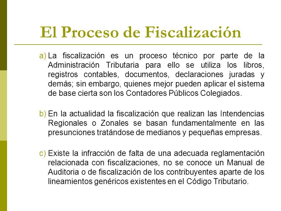 El Proceso de Fiscalización