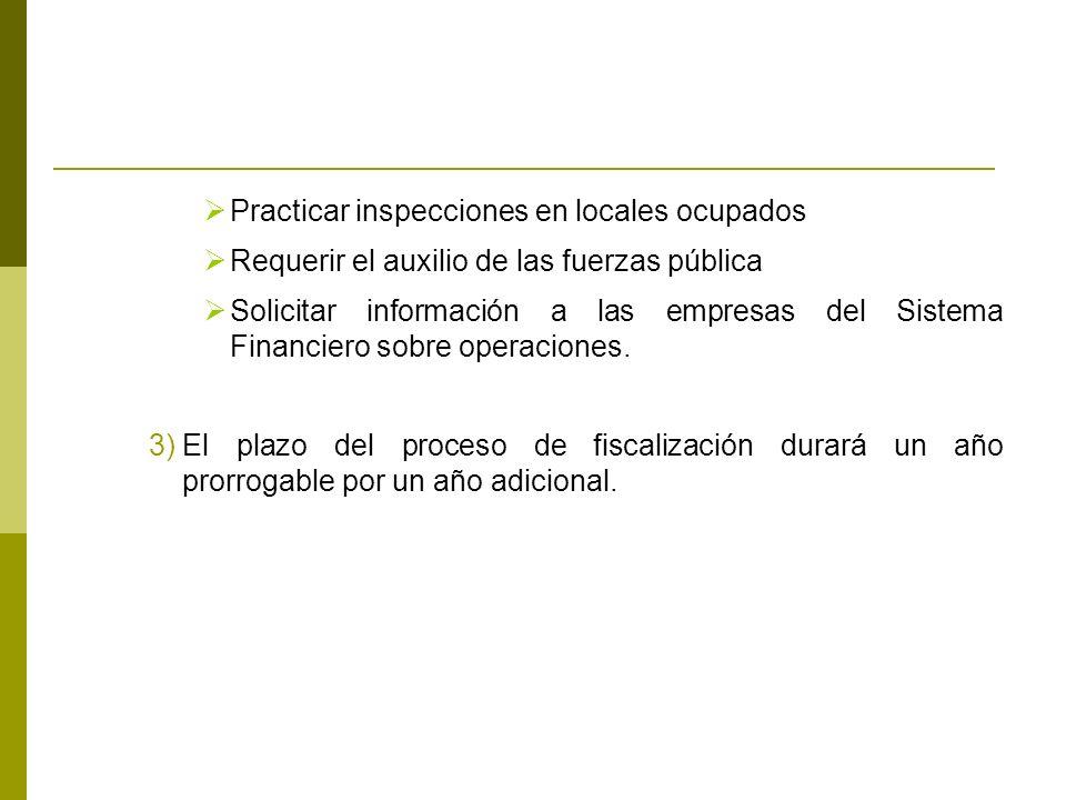 Practicar inspecciones en locales ocupados