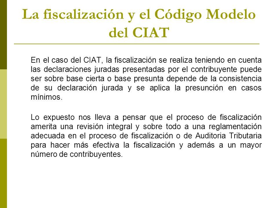 La fiscalización y el Código Modelo del CIAT