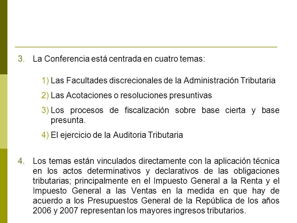 La Conferencia está centrada en cuatro temas: