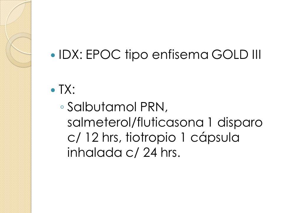 IDX: EPOC tipo enfisema GOLD III