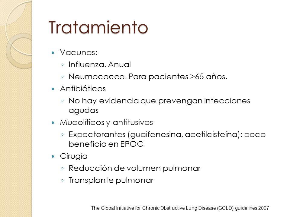 Tratamiento Vacunas: Influenza. Anual