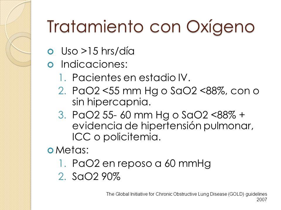 Tratamiento con Oxígeno
