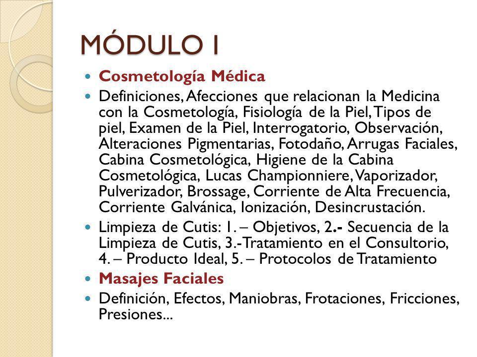 MÓDULO I Cosmetología Médica