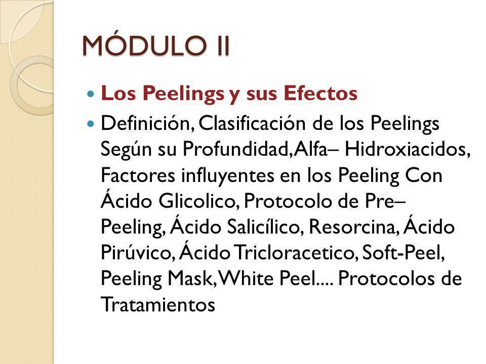 MÓDULO II Los Peelings y sus Efectos