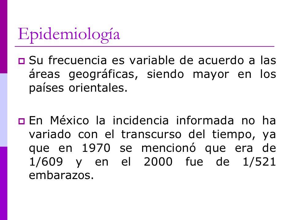 Epidemiología Su frecuencia es variable de acuerdo a las áreas geográficas, siendo mayor en los países orientales.