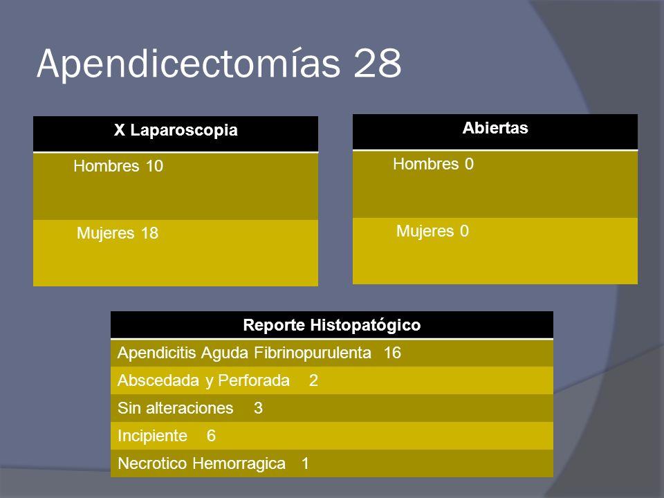 Reporte Histopatógico
