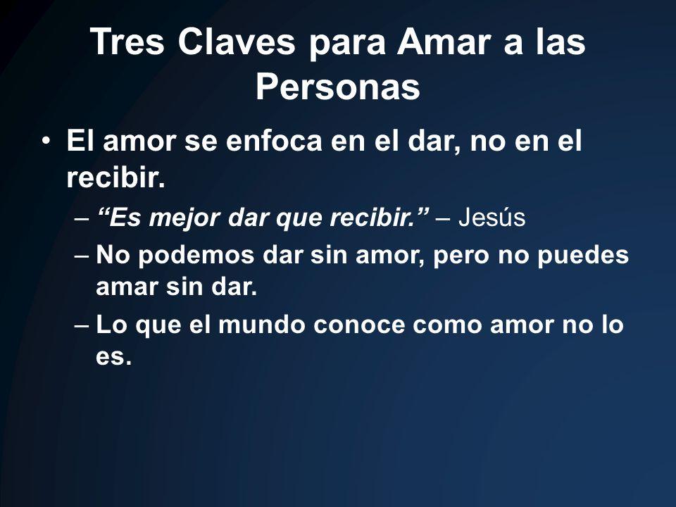 Tres Claves para Amar a las Personas