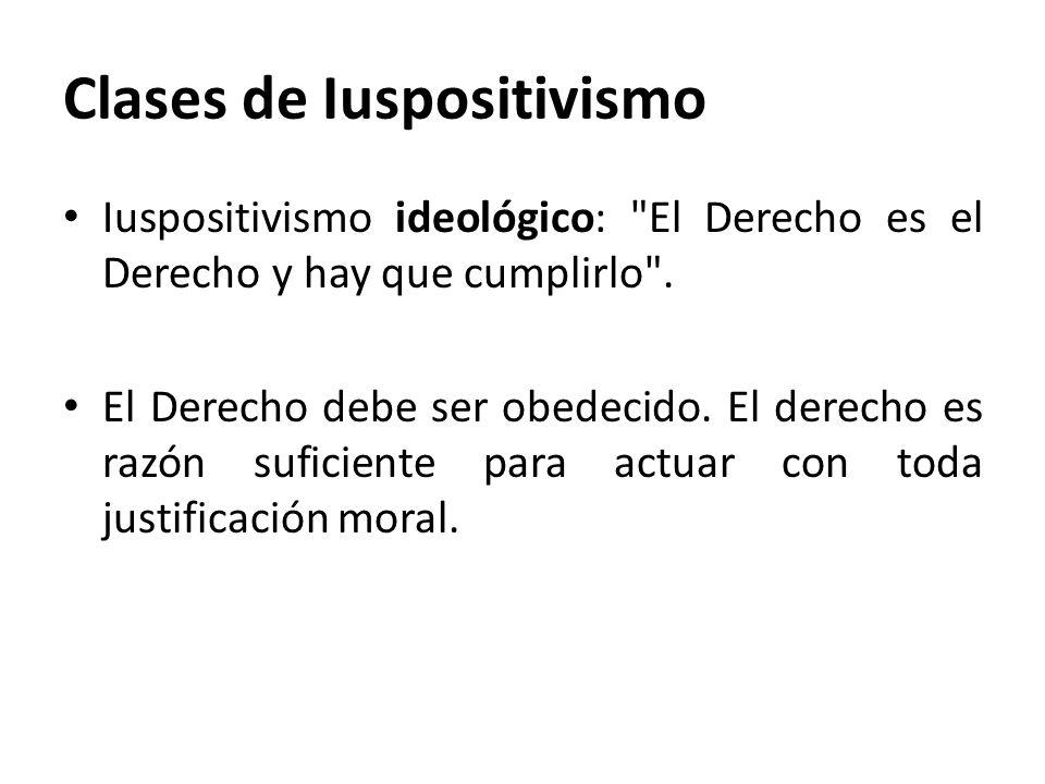 Clases de Iuspositivismo