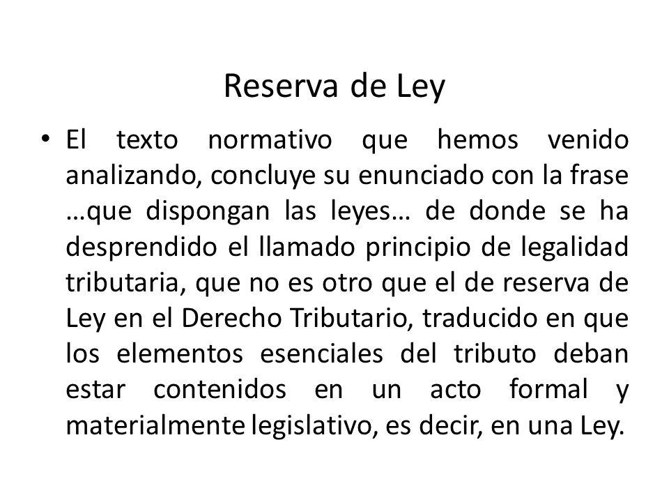 Reserva de Ley