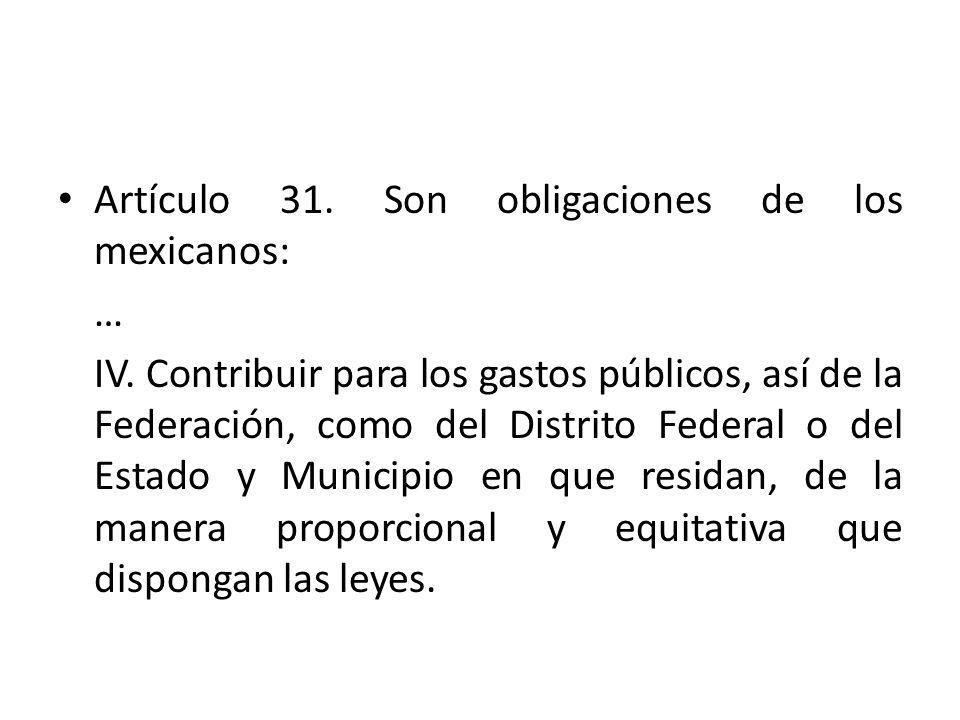 Artículo 31. Son obligaciones de los mexicanos: