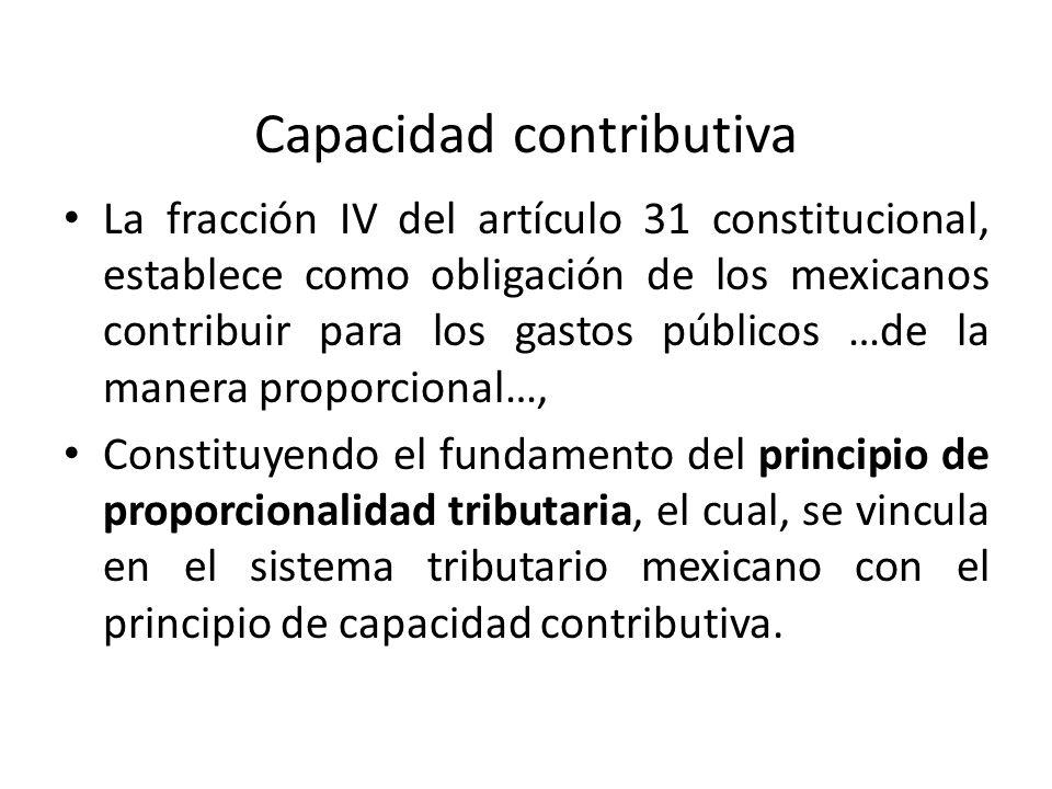 Capacidad contributiva