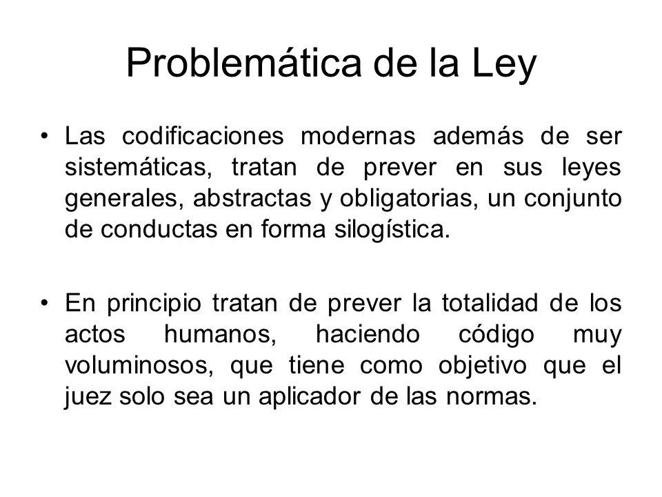Problemática de la Ley