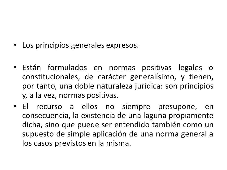 Los principios generales expresos.