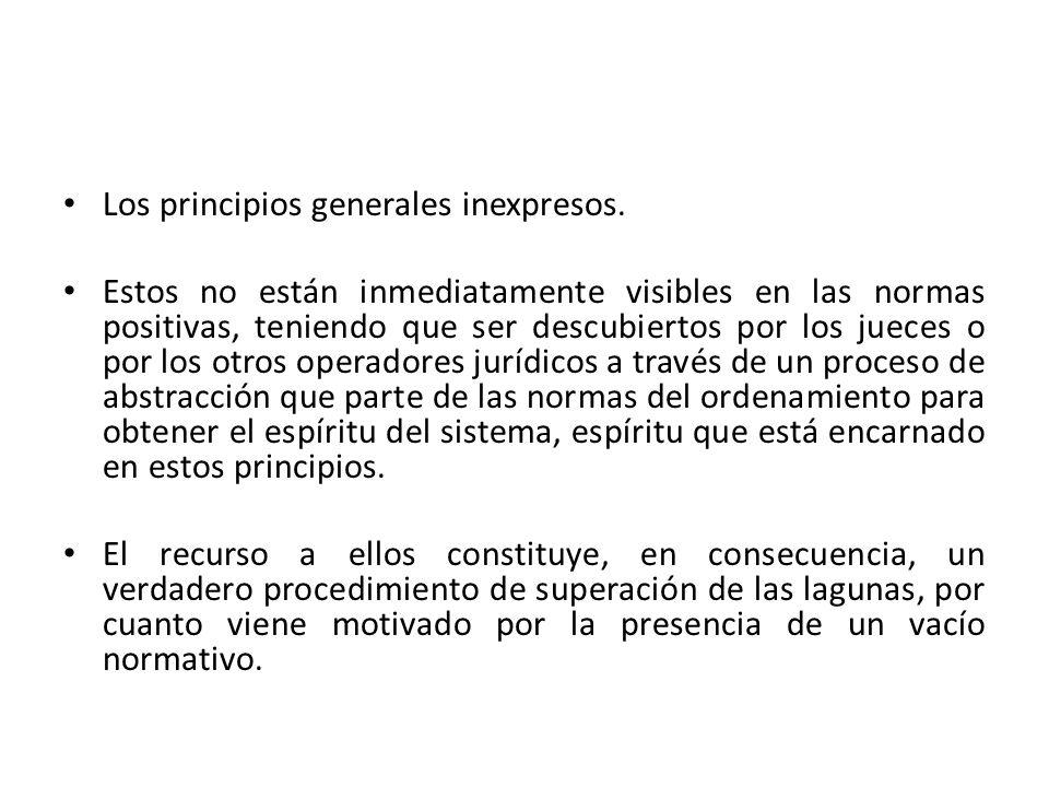 Los principios generales inexpresos.