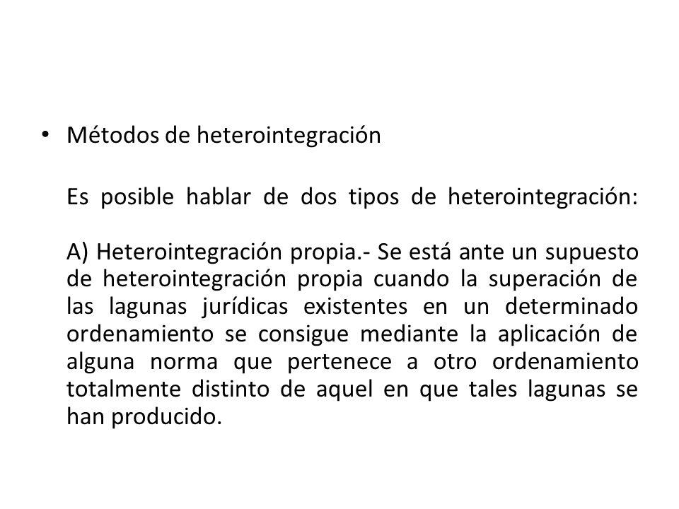 Métodos de heterointegración
