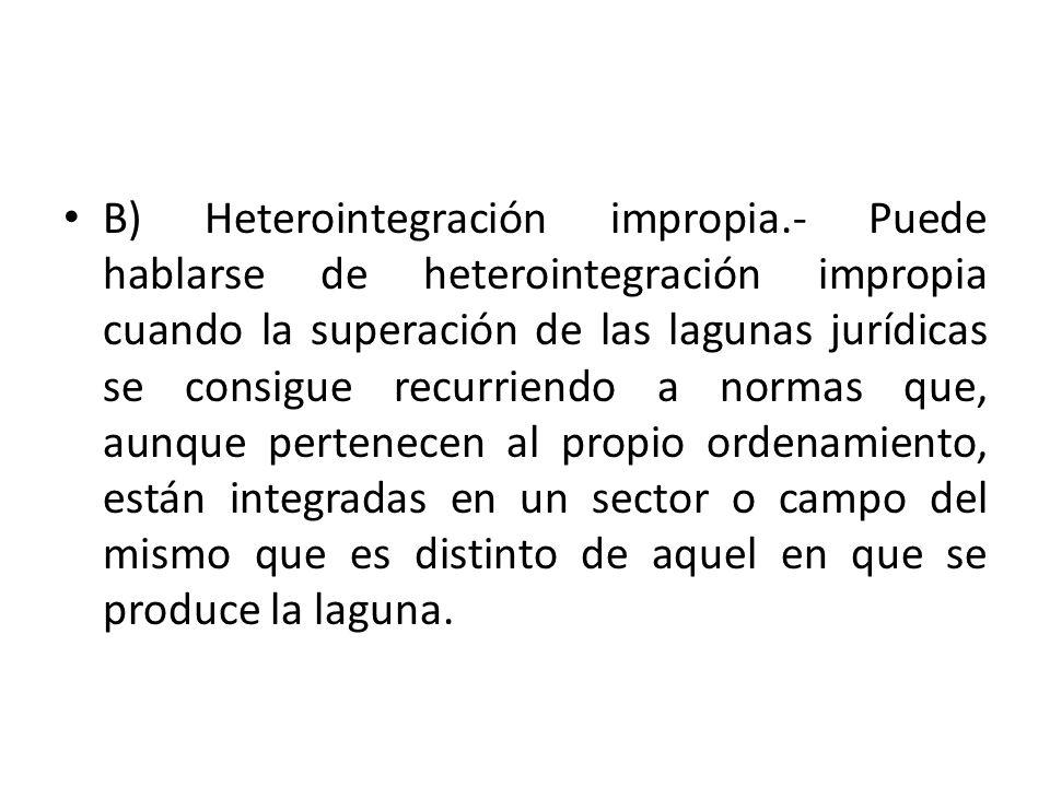 B) Heterointegración impropia