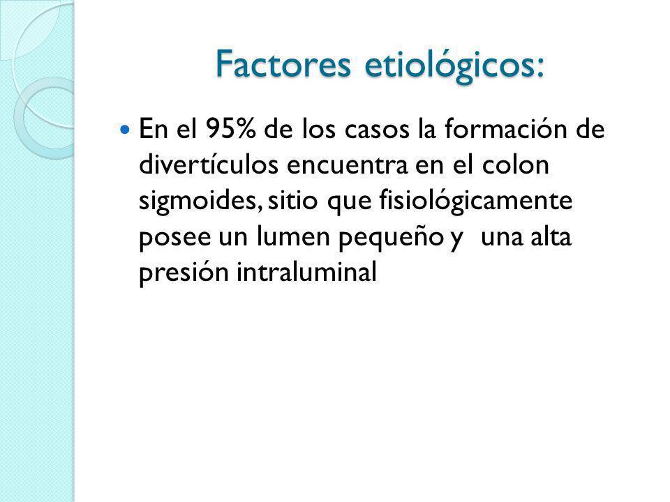 Factores etiológicos: