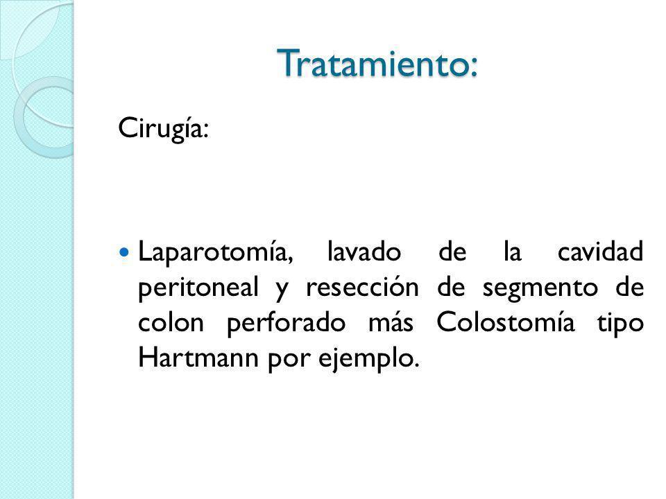 Tratamiento: Cirugía: