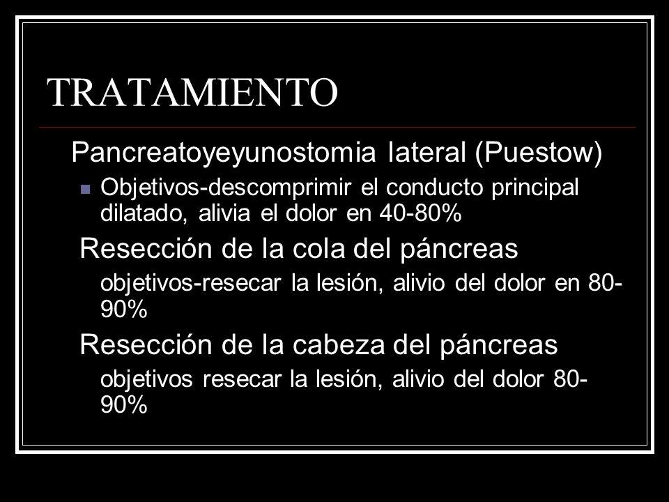 TRATAMIENTO Pancreatoyeyunostomia lateral (Puestow)