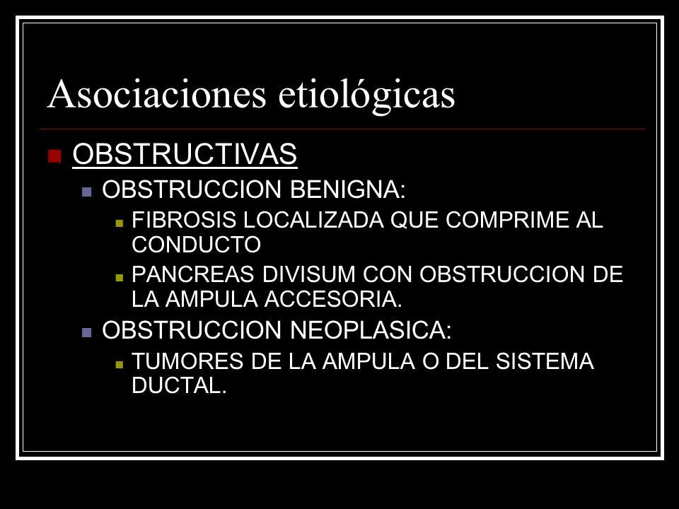 Asociaciones etiológicas
