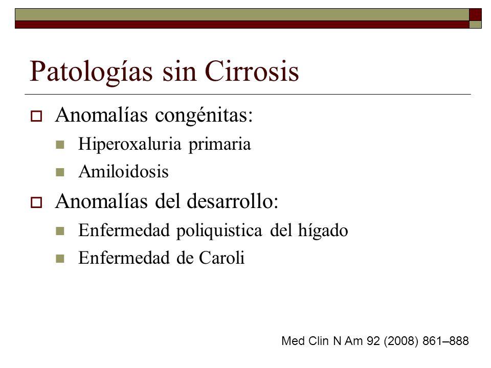 Patologías sin Cirrosis