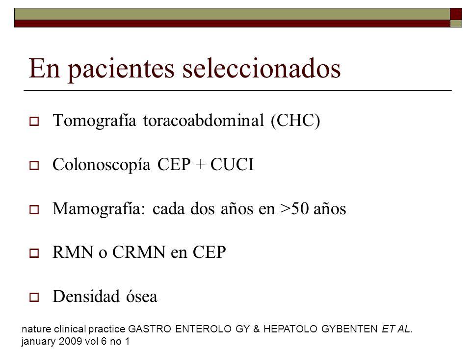 En pacientes seleccionados