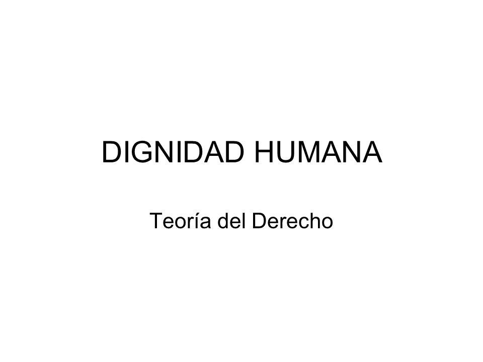 DIGNIDAD HUMANA Teoría del Derecho