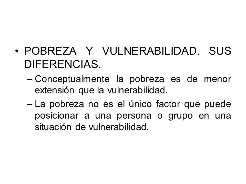 POBREZA Y VULNERABILIDAD. SUS DIFERENCIAS.