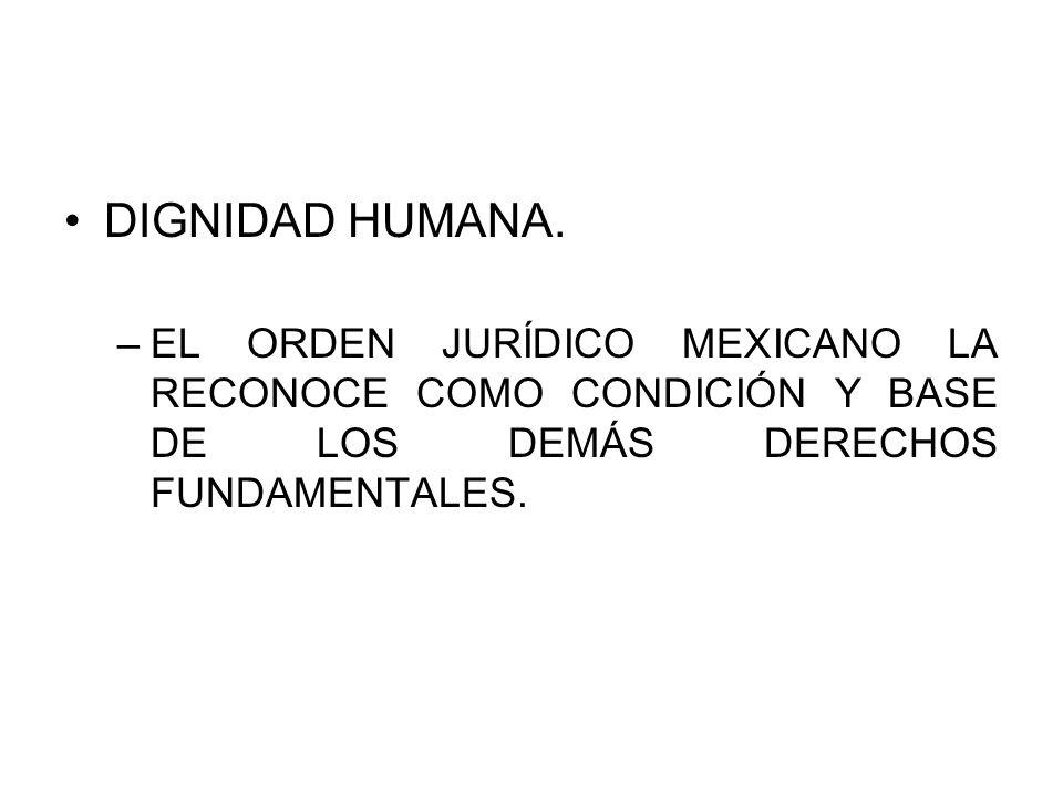 DIGNIDAD HUMANA.