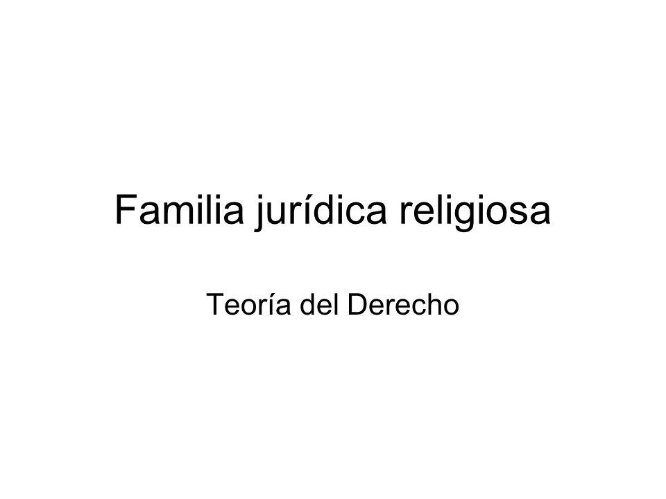 Familia jurídica religiosa
