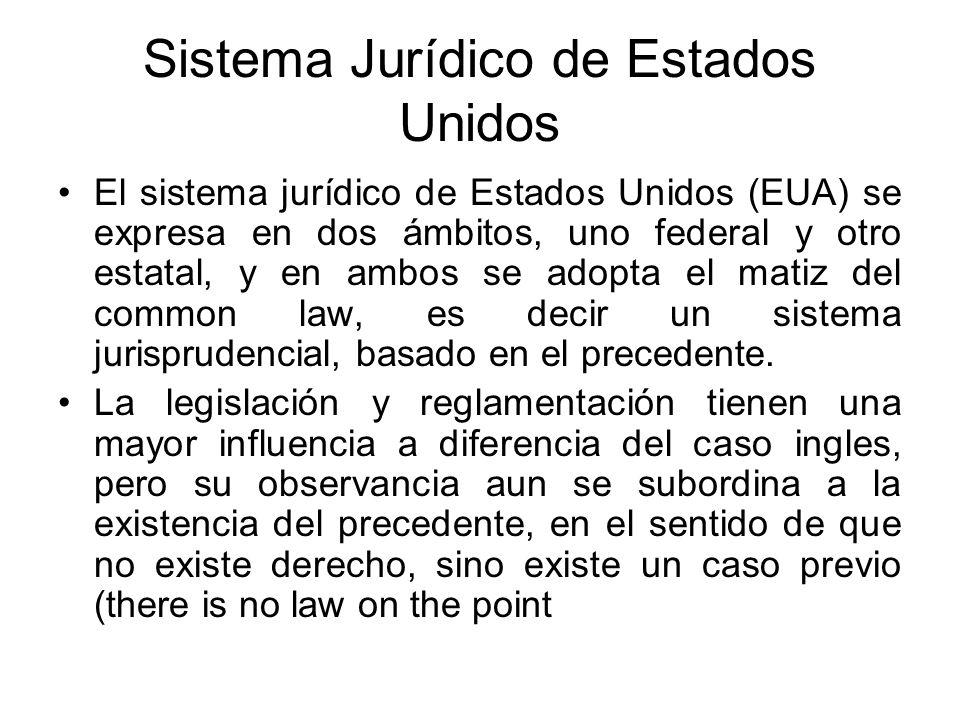 Sistema Jurídico de Estados Unidos