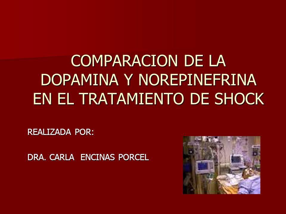 COMPARACION DE LA DOPAMINA Y NOREPINEFRINA EN EL TRATAMIENTO DE SHOCK